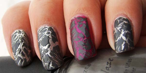 crackled tipe kutek nail art