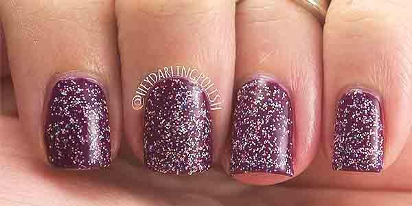 micro glitter tipe kuteks nail art